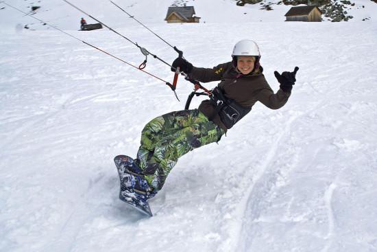 Snowkiten im Ski- & Winterurlaub in Obertauern, Salzburger Land